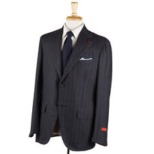 NWT $3995 ISAIA Gray Check 'Extra Light Flannel' Wool-Silk Suit 42 R (Eu 52)