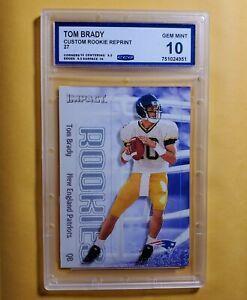 Graded Gem Mint 10 2000 Skybox reprint rookie TOM BRADY Patriots Buccaneers
