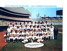1963 LOS ANGELES DODGERS 8X10 TEAM PHOTO KOUFAX HOWARD  BASEBALL HOF