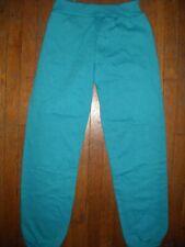 Vtg youth Large 80S New Teal Blue Gusset Panel Drawstring Usa Sweat Pants