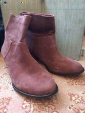 J Jill Boots Maroon Purple Suede Size 10 EUC