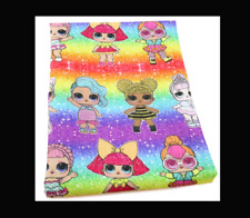 LOL Surprise Fabric Poly Cotton 1m x 1.4m (rainbow)