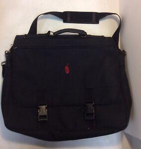 Chipotle Mexican Grill Black Expandable Briefcase Shoulder Messenger Bag
