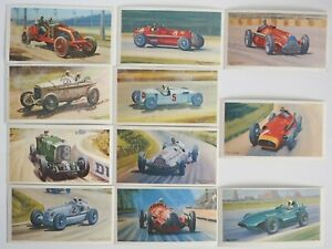 Collectible 1971 Trading - Mobil - The Story Of Grand Prix Motor Racing 11 Cards