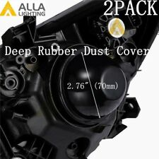 LED High Low Beam Headlight Bulb Fog Light Dust Seal Lamp Cover Housing Cap 2.76