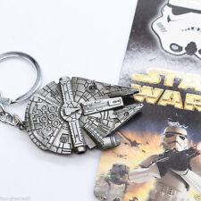 New Star Wars Millennium Falcon Metal Keyring Keychain Silver Color Fashion Gift