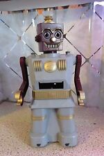Vintage MARX Electric Robot 1950's Maroon and Gray Morse Code for Parts / Repair