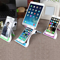 Portable Creative Foldable Desktop Stand Mount Holder For Cell Phone Tablet PC #