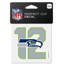 "Seattle Seahawks 12th Man Perfect Cut 4""x4"" Color Decal (NEW) Sticker Emblem NFL"
