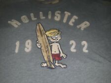 Hollister Embroidered Tee XL With Surf Dude 1922 Rare