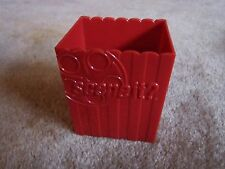 SCENE IT? DVD Red Plastic Card Box Holder 2005 Mattel Game Replacement Part