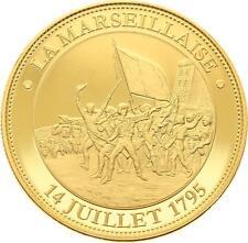 O4186 Médaille Marseillaise 1795 Révolution Française 1789-1799 PROOF PF BE