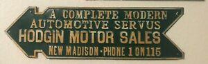 Antique Motor Sales Sign Vintage Arrow Road Modern Automotive Embossed Metal