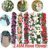8Ft Artificial Rose Garland Silk Flower Vine Ivy Wedding Garden String Decor IL