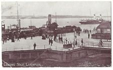 LIVERPOOL Landing Stage, Old Postcard Postally Used 1910