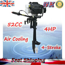4 Stroke 4HP Outboard Motor Fishing Boat Engine 2.8 kW w/ Air Cooling CDI System