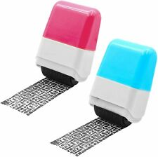 2x Identity Theft Protection Roller Stamp Guard Id Privacy Confidential Data