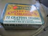 Crayola Collectors Colors Limited Edition, Tin w/ 72 Crayons - 1991 NEW & SEALED