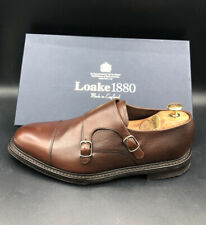 Loake 1880 Benedict Dark Brown Leather Double Monk Cannon Shoe Size 10 44