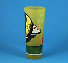 "4"" Tall Painted (Hand?) Angel Fish Shot glass  ~~NICE"