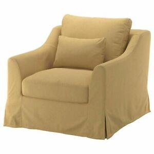 NEW Ikea FARLOV Armchair COVER SET in  Tallmyra yellow beige,803.066.43