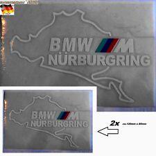 2pcs Auto KFZ Aufkleber Rennstrecke Schleife Ring Karosserie Scheibe 1A Qualität