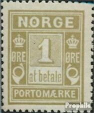 Norway P1I A fine used / cancelled 1889 Porto Brand