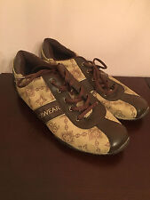 RocaWear Low-Top Fashion Sneakers Womens Size WMS9 Brown Monogram Shoes