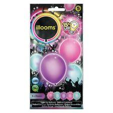 5 Leuchtende LED Luftballons Pastell Mix   Part-Deko Geburtstag Hochzeit Ballon