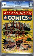 ALL AMERICAN COMICS 9 1939 CGC 5.0 1ST MENTION OF FLASH 2ND ULTRA MAN DC HISTORY