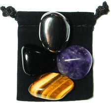 ADDICTION RECOVERY Tumbled Crystal Healing Set = 4 Stones + Pouch + Description