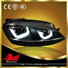 For 2014 2015 VW Golf 7 Headlight Double U LED DRL And Bi-xenon Projector