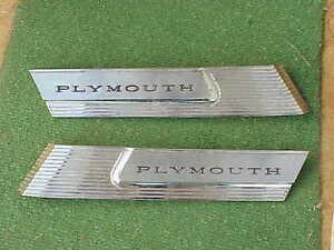 1965 Plymouth Fury III 4 Door Hardtop NOS MoPar C-Pillar NAMEPLATES ORNAMENTS