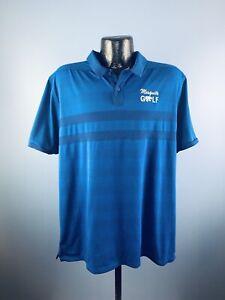Men's Nike Zonal Cooling Blue Polyester Short-Sleeve Mesquite Golf Polo XL NWOT