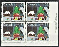 Canada Stamp #1069 - Santa Claus Parade (1985) 68¢ LR Inscription PLATE BLOCK