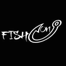 New Fish On hook Vinyl Car Truck Boat Water Hunting Decal Sticker Window Fishing