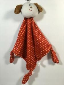 Russ Berrie PUPPY DOG Polka Dot Knotted Lovey Security Blanket
