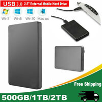 "Portable 1TB 2TB USB 3.0 2.5"" External Hard Drive Disk Ultra Slim For PC Laptop"