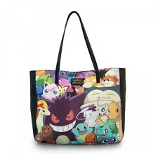* New LOUNGEFLY Handbag Purse Tote Bag POKEMON GO Monsters Game Character Print