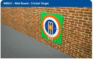 ACRYLIC CRICKET TARGET WALL BOARD  IDEAL FOR PLAYGROUNDS!!