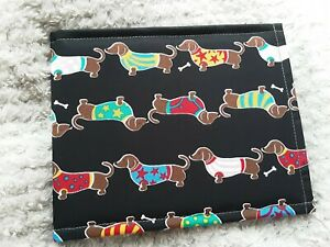 Disabled Blue badge holder cover wallet SAUSAGE DOG hologram safe gift