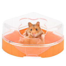 Orange Small Animal Plastic Hamster Bathroom Bath Sand Room Sauna Toilet Bathtub