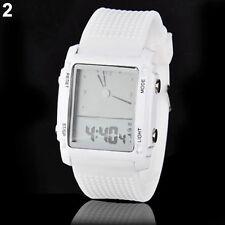 Fashion Unisex Womens Mens Digital Led Chronograph Quartz Sport Wrist Watch