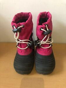 Sorel Waterproof Felt Lined Childrens Boots - UK Size 7.5 - Pink