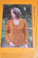 Knitting Pure & Simple Pattern 298 Top Down Shawl Collar Cardigan
