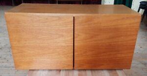 Tapley 33 Mid Century 2 Door Teak Floating Cabinet Wall Unit Modular System
