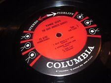 DAVE BRUBECK QUARTET TIME OUT RARE ORIGINAL 50S 6 EYE STEREO JAZZ LP RECORD CLEA