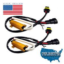 2 9006 HB4 LED Fog Light Headlight No Error Load Resistor Wiring Harness Decoder