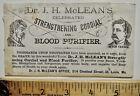 1881 Dr. McLean's Quack Blood Purifier Advertising Envelope St. Louis