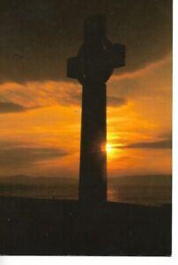 SUNSET AT LADY VICTORIA'S CROSS, IONA, SCOTLAND.